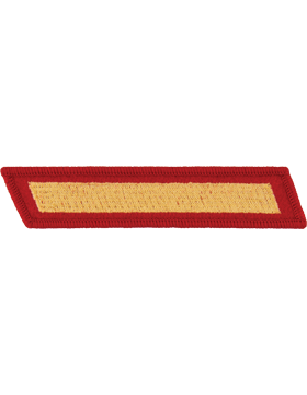 Set of 1 Stripes Gold on Red Female