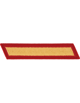 Set of 1 Stripes Gold on Red Male