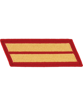 Set of 2 Stripes Gold on Red Female