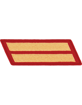 Set of 2 Stripes Gold on Red Male