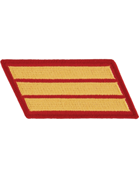 Set of 3 Stripes Gold on Red Female