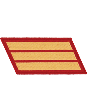 Set of 3 Stripes Gold on Red Male