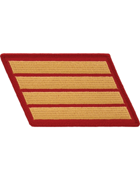 Set of 4 Stripes Gold on Red Female
