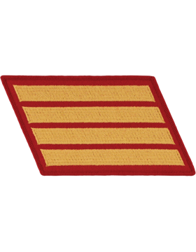 Set of 4 Stripes Gold on Red Male