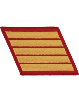 Set of 5 Stripes Gold on Red Female