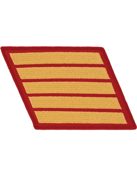 Set of 5 Stripes Gold on Red Male