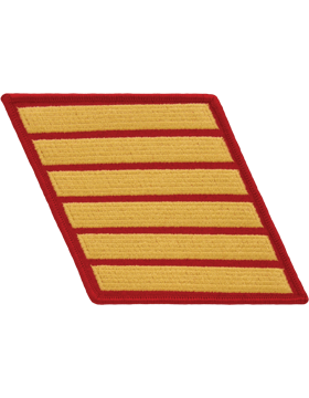 Set of 6 Stripes Gold on Red Female