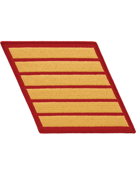 Set of 6 Stripes Gold on Red Male