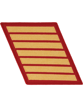 Set of 7 Stripes Gold on Red Female