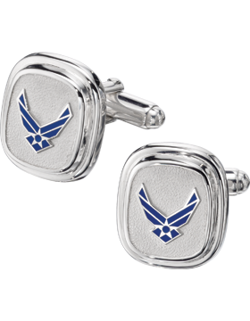 US Air Force Cuff Links Style 4 Sterling Silver