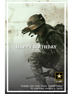 Military Birthday Poster Army