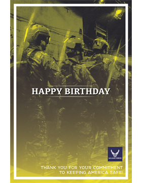 Military Birthday Poster Air Force