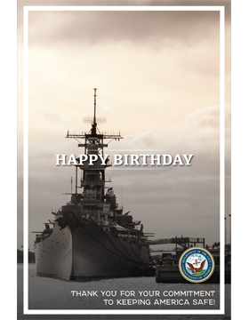Military Birthday Poster Navy