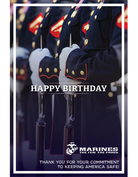 Military Birthday Poster Marines