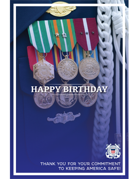 Military Birthday Poster Coast Guard