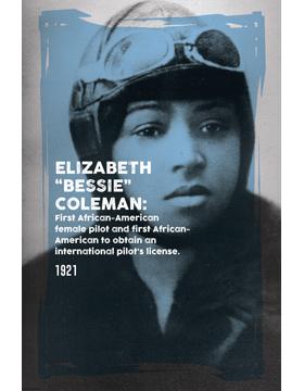 Black History Poster Elizabeth Coleman