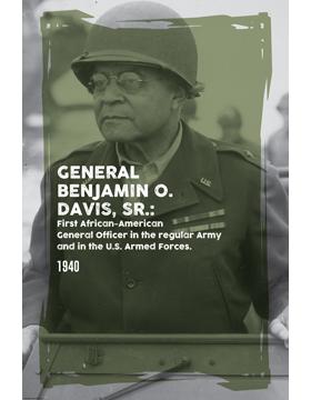 Black History Poster Benjamin O. Davis, Sr.