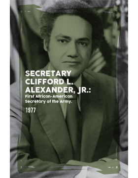 Black History Poster Clifford L. Alexander Jr.