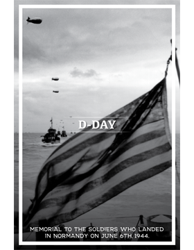Military Holiday Poster D-Day