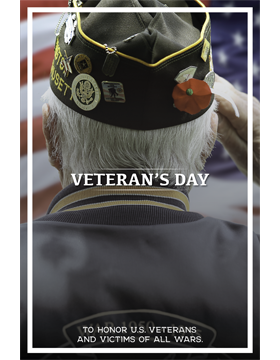 Military Holiday Poster Veteran's Day