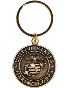 US Marine Corps Key Ring Style 9 Bronze