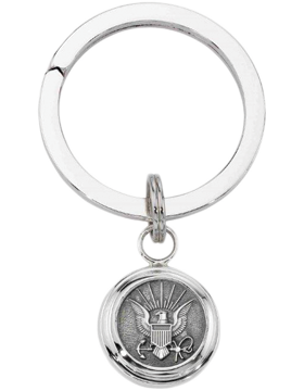 US Navy Key Ring Style 4 Sterling Silver