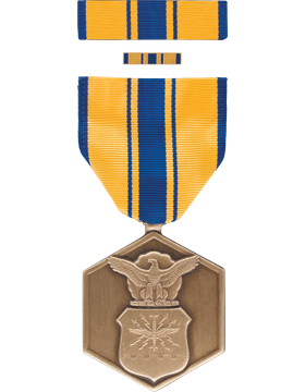 Air Force Commendation Full Size Medal Box Set with Lapel Pin