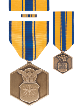 Air Force Commendation,Box Set with Lapel Pin & Mini Medal