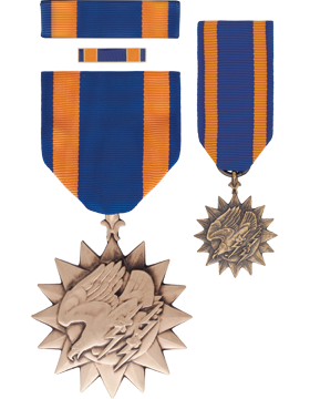 Air Medal,Box Set with Lapel Pin & Mini Medal