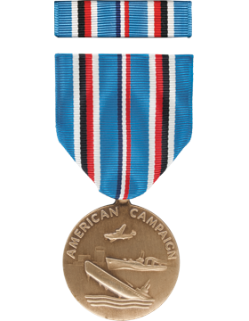 American Campaign Full Size Medal Box Set without Lapel Pin