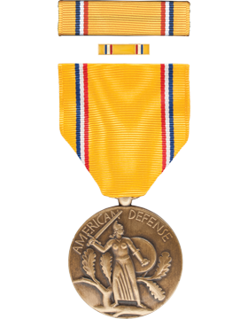 American Defense Full Size Medal Box Set with Lapel Pin