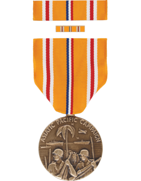 Asiatic Pacific Campaign Full Size Medal Box Set with Lapel Pin
