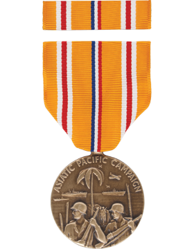Asiatic Pacific Campaign Full Size Medal Box Set with No Lapel Pin