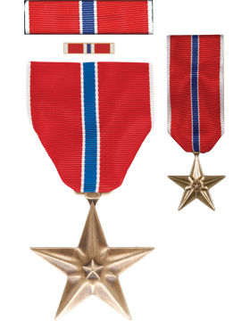 Bronze Star Medal, Box Set with Lapel Pin & Mini Medal