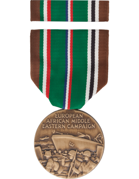 European Middle East Campaign WWII Full Size Medal Box Set with No Lapel Pin