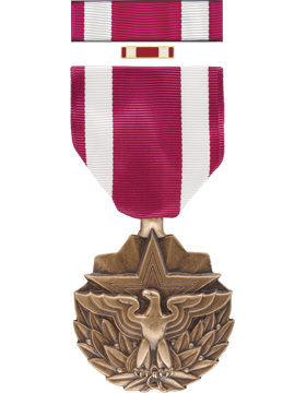 Meritorious Service Full Size Medal Box Set with Lapel Pin