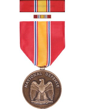 National Defense Full Size Medal Box Set with Lapel Pin