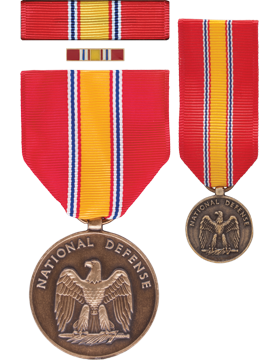National Defense, Box Set w/Lapel Pin & Mini Medal