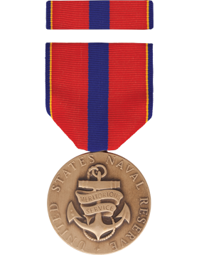 Navy Reserve Meritorious Service Full Size Medal Box Set without Lapel Pin