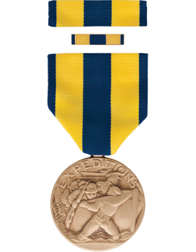 Navy Expeditionary Full Size Medal Box Set with Lapel Pin