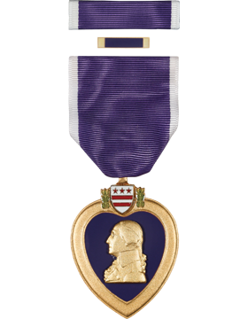 Purple Heart Full Size Medal Box Set with Lapel Pin