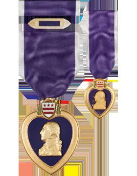 Purple Heart, Box Set w/Lapel Pin & Mini Medal