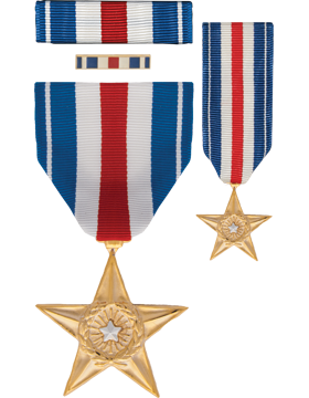 Silver Star, Box Set with Lapel Pin & Mini Medal