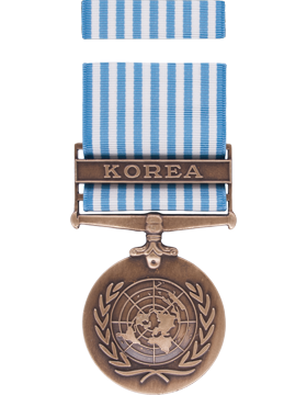 United Nations Korean Service Full Size Medal Box Set without Lapel Pin