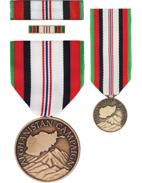 Afghanistan Campaign, Box Set with Lapel Pin & Mini Medal