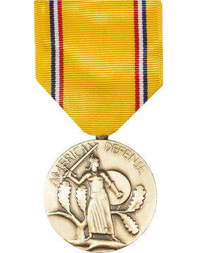 American Defense Full Size Medal (Pin Back)