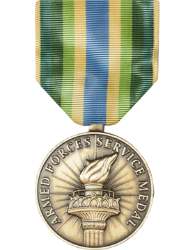 Armed Forces Service Full Size Medal (Nail Back)