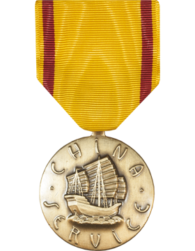 China Service Full Size Medal (Nail Back)