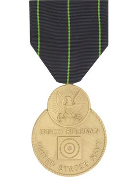 Navy Expert Rifleman Full Size Medal (Pin Back)