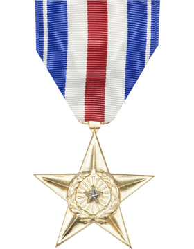 Silver Star Full Size Medal (Nail Back)